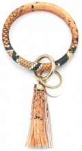 BC514-001C Bag - Key Chain Ring with Tassel Snake Brown