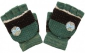 I-D6.1 Kids Gloves with a Bow Green