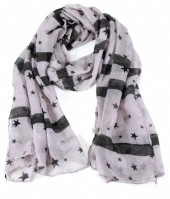 X-F5.2 S208-003 Scarf with Stars 70x180cm Grey