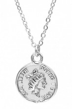 D-A7.5 SN105-013 925S Silver Necklace Coin 13mm