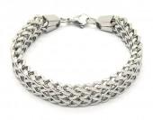 A-D23.2 B2063-013S S. Steel Bracelet Chain 1.2x19.5cm Silver