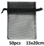 A-G11.1 Organza Gift Bag 15x20cm Black 50pcs
