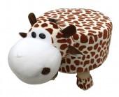 Y-D6.4  STOOL506-002 Plush Stool Giraffe