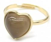 E-E3.3 R1934-009 Adjustable Ring Labrodorite Gold