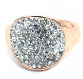 B-B4.1  R532-004R Adjustable Ring with Crystals Rose Gold