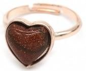 D-C2.2 R1934-009 Adjustable Ring Gold Sand Stone Rose Gold
