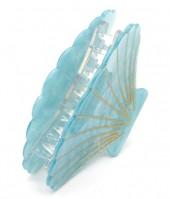 X-M7.2  H413-048C Hair Clip Large Shell 9cm Blue