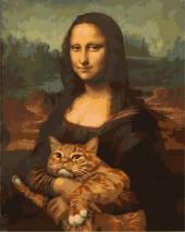 Y-C5.3 MS7760 Paint By Number Set Cat-Mona 50x40cm